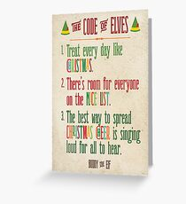 Buddy the Elf! The Code of Elves Greeting Card