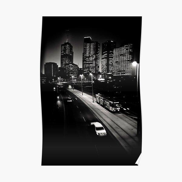 Melbourne after dark Poster