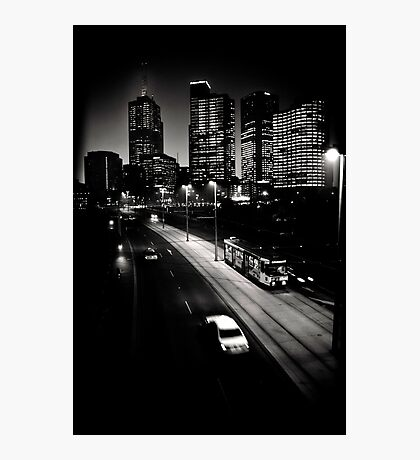 Melbourne after dark Photographic Print
