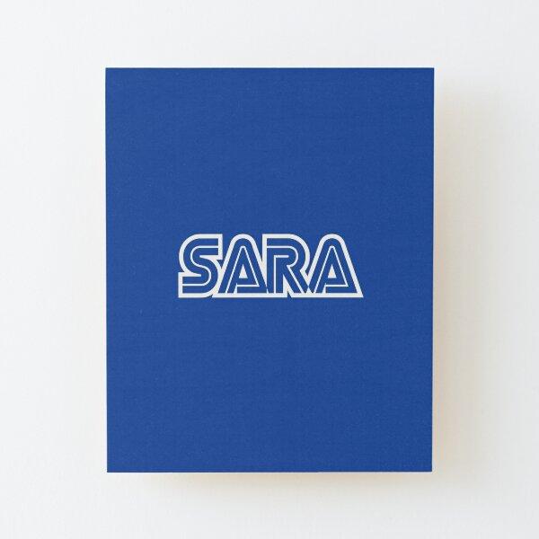 Nombre de Sara Gamer Girl Lámina montada de madera