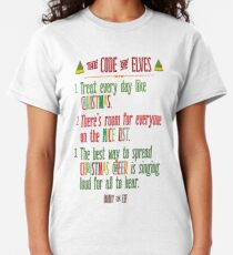 Buddy the Elf! The Code of Elves Classic T-Shirt