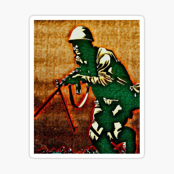 CUBAN RED ARMY SOLDIER Sticker