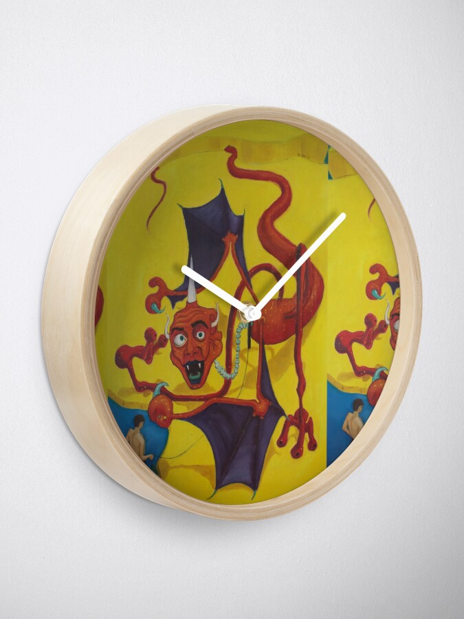 Alternate view of Red Dragon Kite Clock