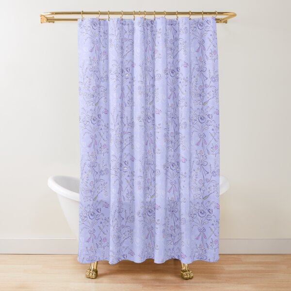 Modern chintz blue Shower Curtain
