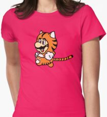 Tiger Suit Womens Fitted T-Shirt