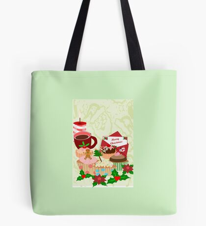 Christmas Cup Cakes (2811 Views) Tote Bag