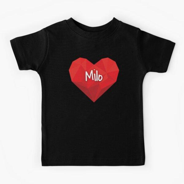 I Love Heart Milos Black Kids Sweatshirt