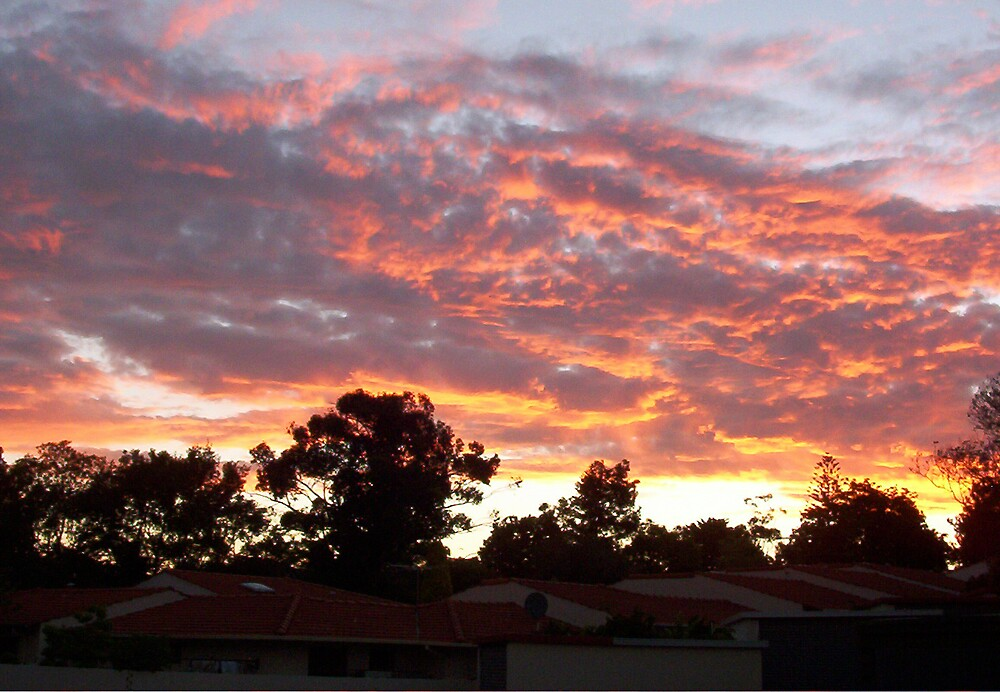Suburbia Sunset Two by Robert Phillips