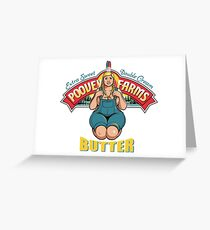 Poovey Farms Butter Greeting Card