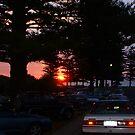 Carpark Sunset  by Robert Phillips