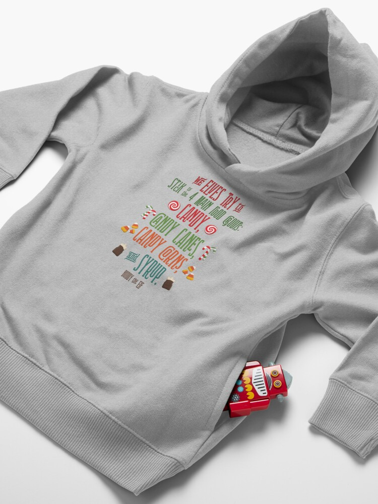 Alternate view of Buddy the Elf - The Four Main Food Groups Toddler Pullover Hoodie