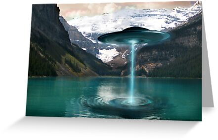 UFO Lake Louise. Aug 7, 2011 by Cliff Vestergaard