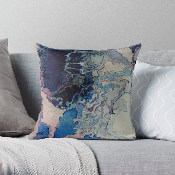 Hyperborean Crater Throw Pillow