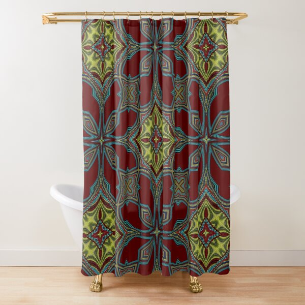 Embroidery Tribal Shower Curtain