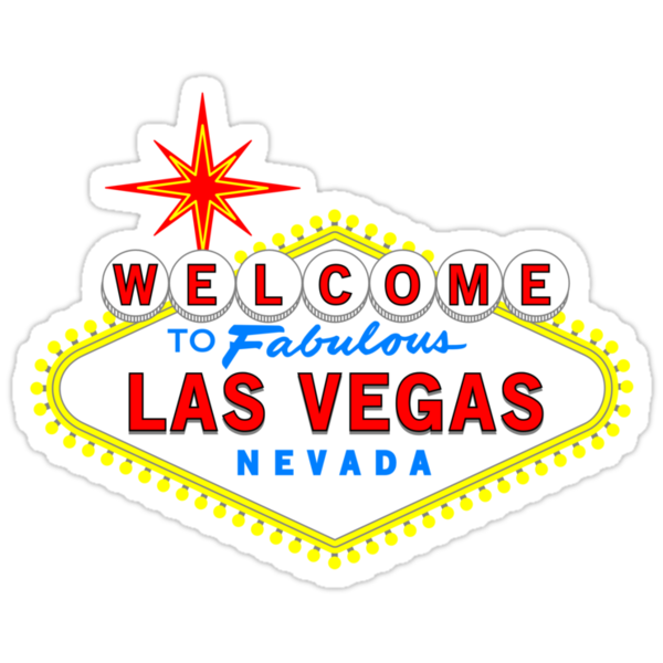 Quot Welcome To Fabulous Las Vegas Quot Stickers By Chuffy Redbubble
