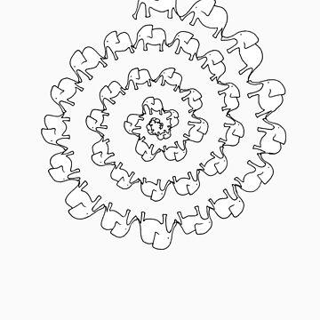 Elephant Spiral by mammalwear