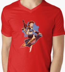 Atombombe Baby T-Shirt mit V-Ausschnitt für Männer