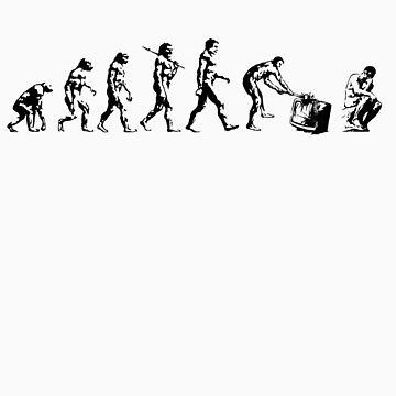 Evolution of The Thinker by mammalwear