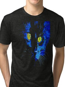 Marley The Cat Portrait With Striking Yellow Eyes Tri-blend T-Shirt