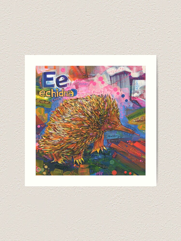 Alternate view of E Is for Echidna - 2019 Art Print