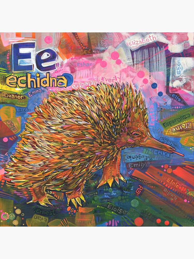 E Is for Echidna - 2019 by gwennpaints