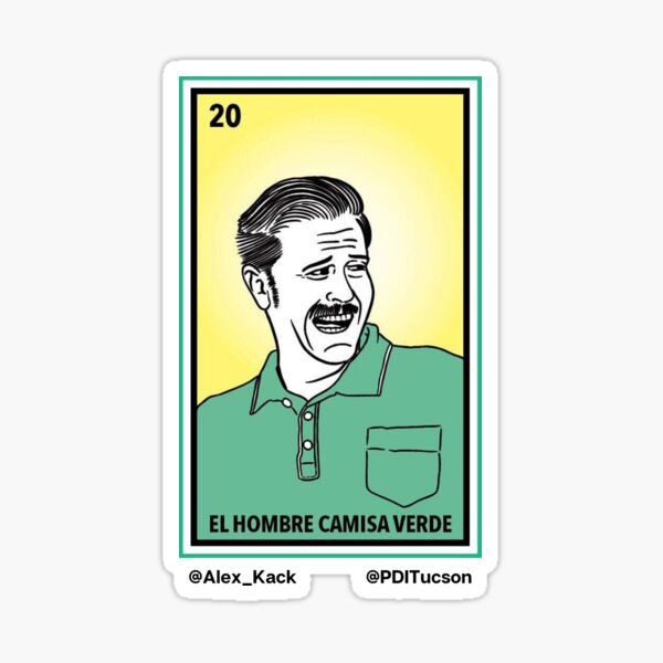 Green Shirt Guy Loteria  Sticker