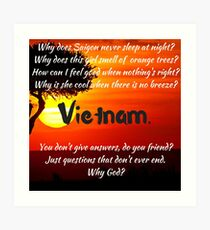 Miss Saigon - WHY GOD WHY Art Print