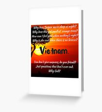 Miss Saigon - WHY GOD WHY Greeting Card