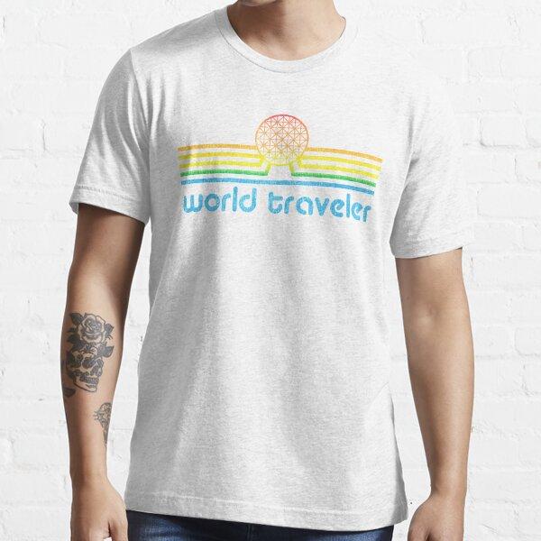 World Traveler - Epcot inspired retro Spaceship Earth World Showcase Essential T-Shirt