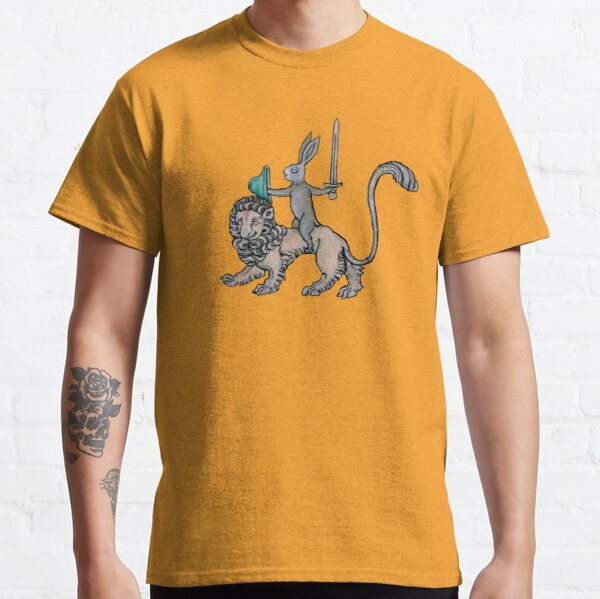 Medieval Rabbit rides a Lion - because he can! Classic T-Shirt