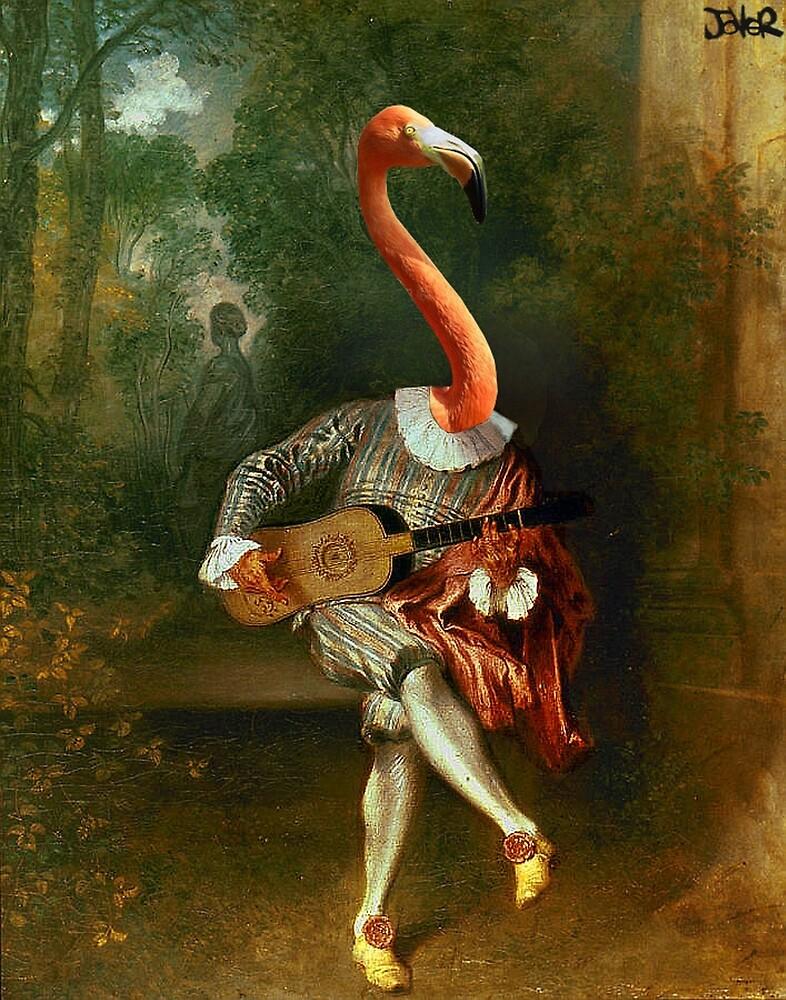 pink flamenco  by Loui  Jover