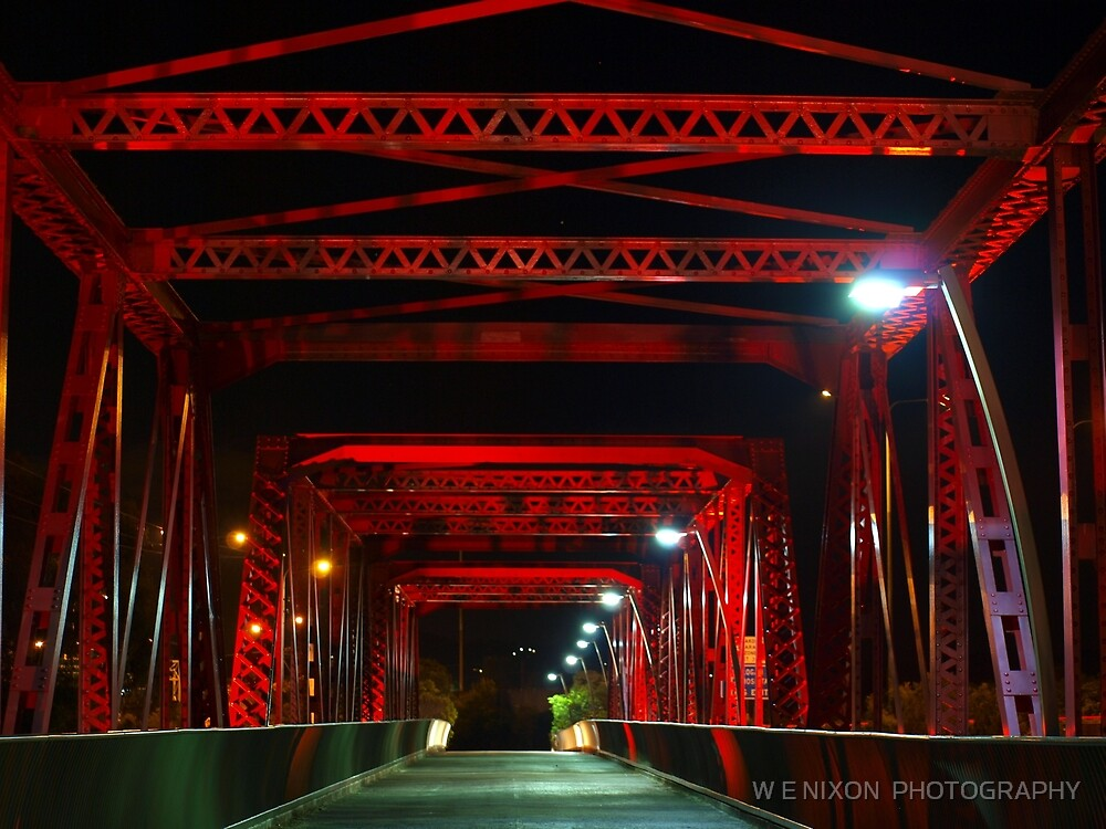 Red Bridge by W E NIXON  PHOTOGRAPHY