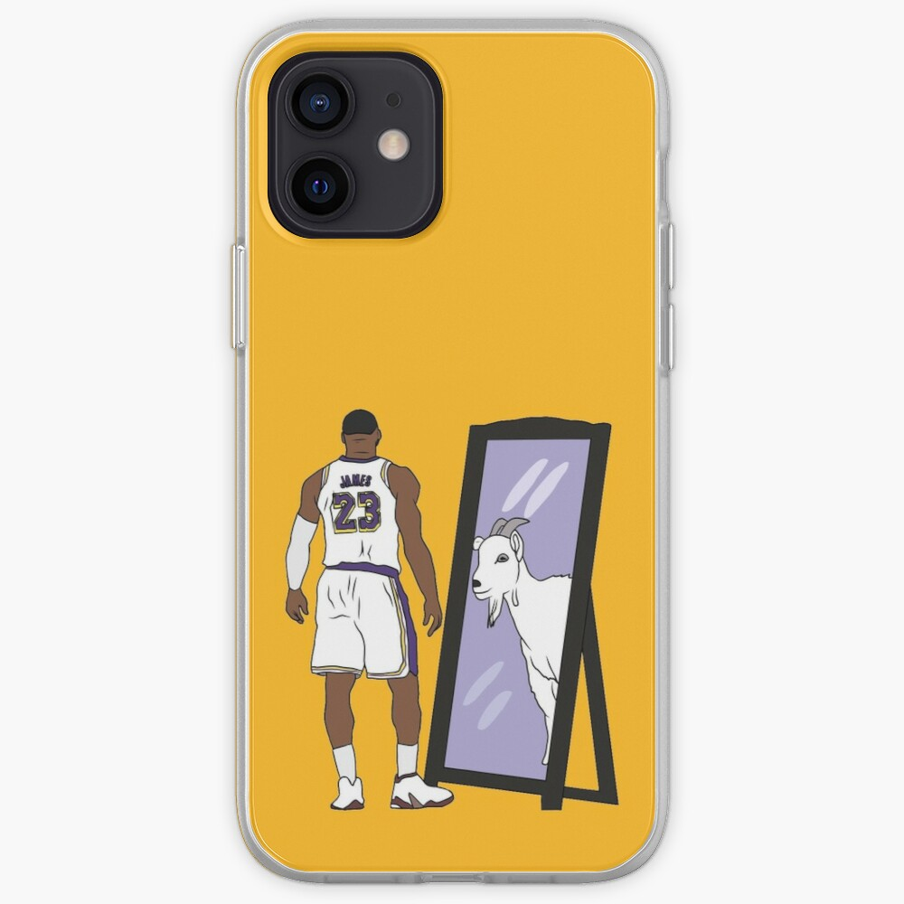 LeBron James Mirror GOAT (Lakers) iPhone Case & Cover