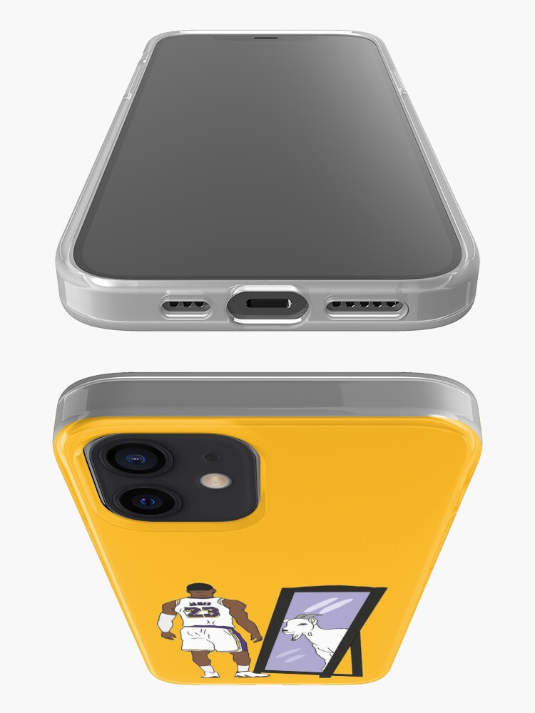 Alternate view of LeBron James Mirror GOAT (Lakers) iPhone Case & Cover