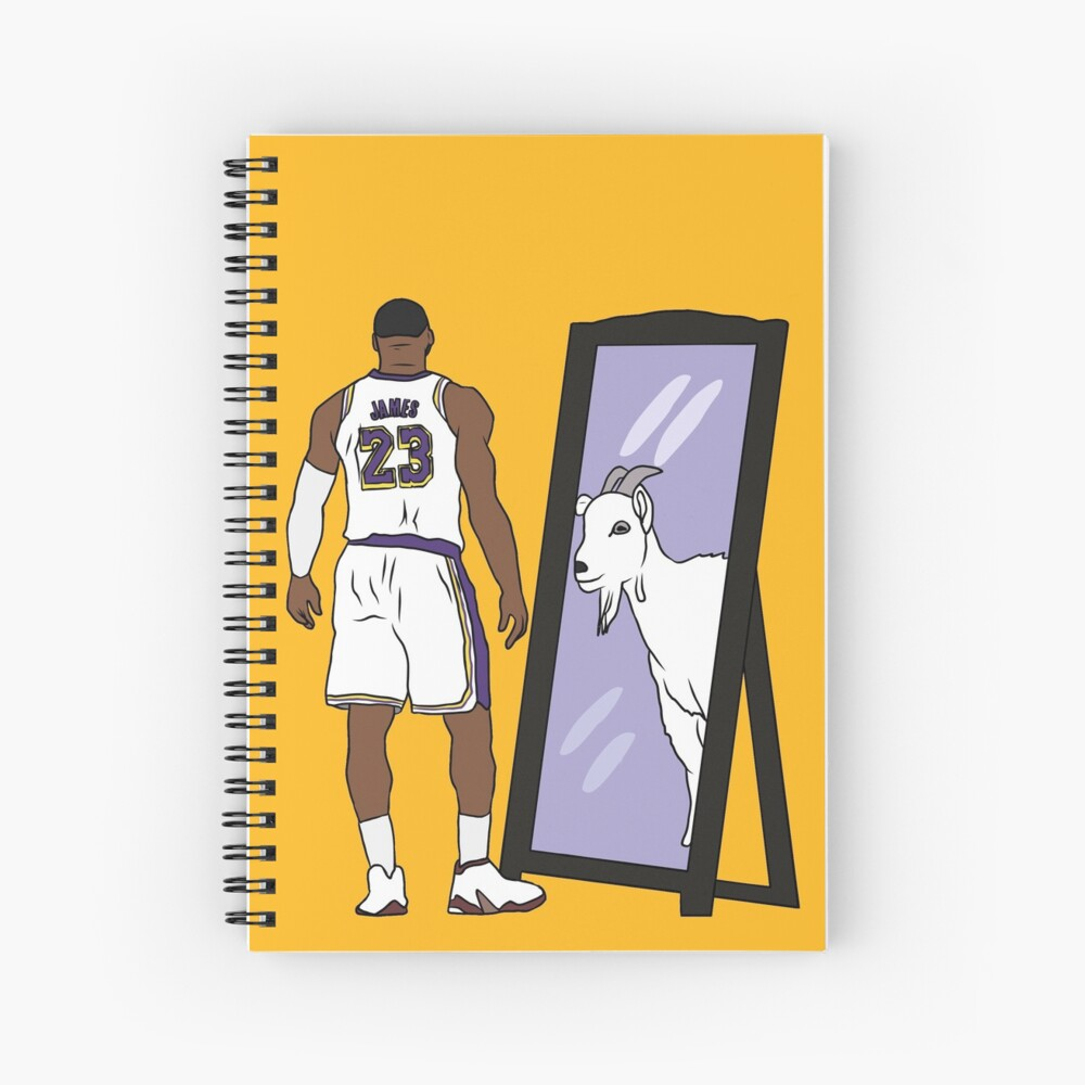 Lebron James Mirror Goat Lakers Art Print By Rattraptees Redbubble