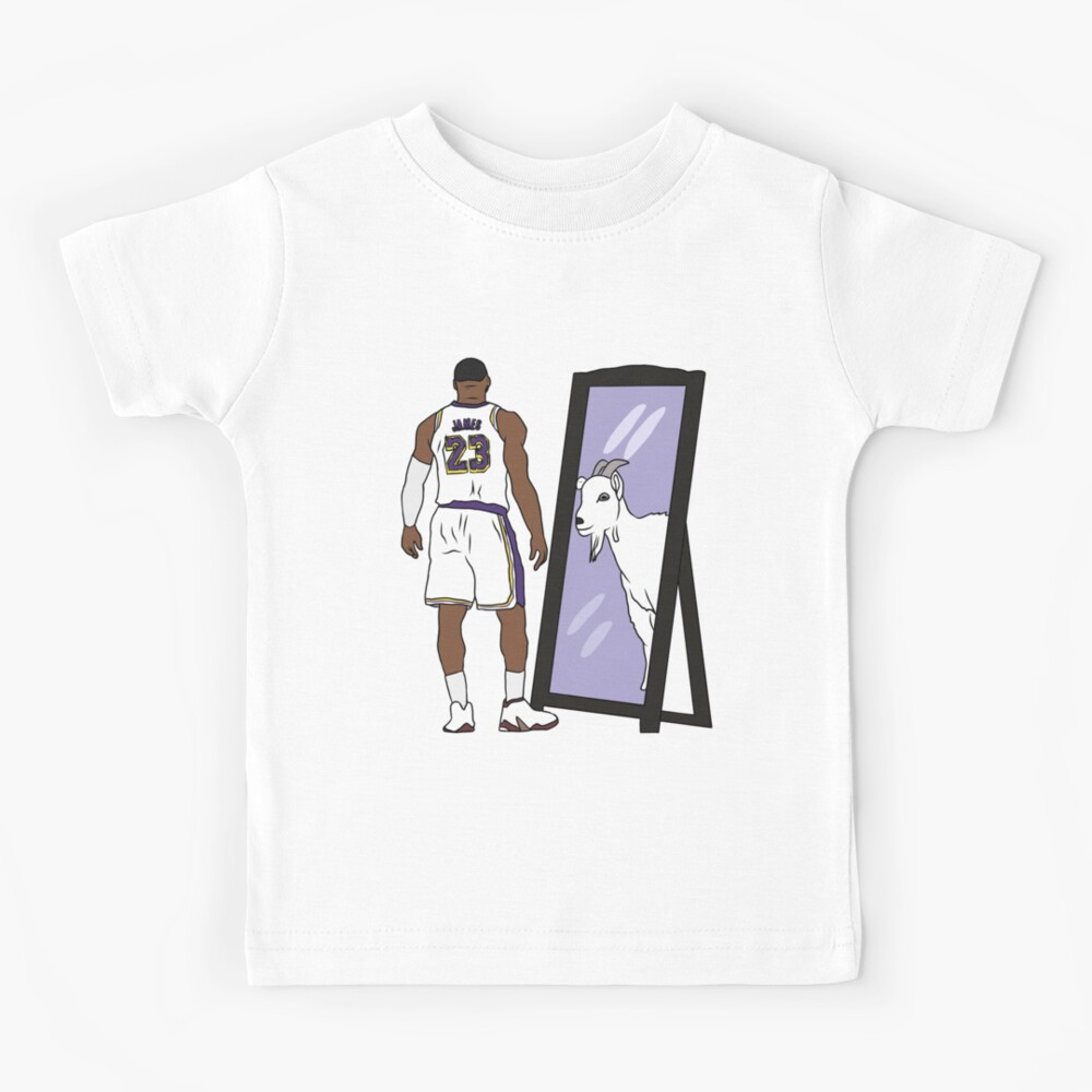 LeBron James Mirror GOAT (Lakers) Kids T-Shirt