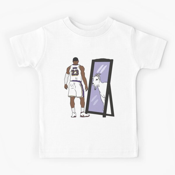 LeBron James Mirror GOAT (Lakers) Kids T-Shirt