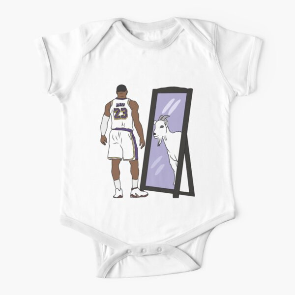LeBron James Mirror GOAT (Lakers) Short Sleeve Baby One-Piece