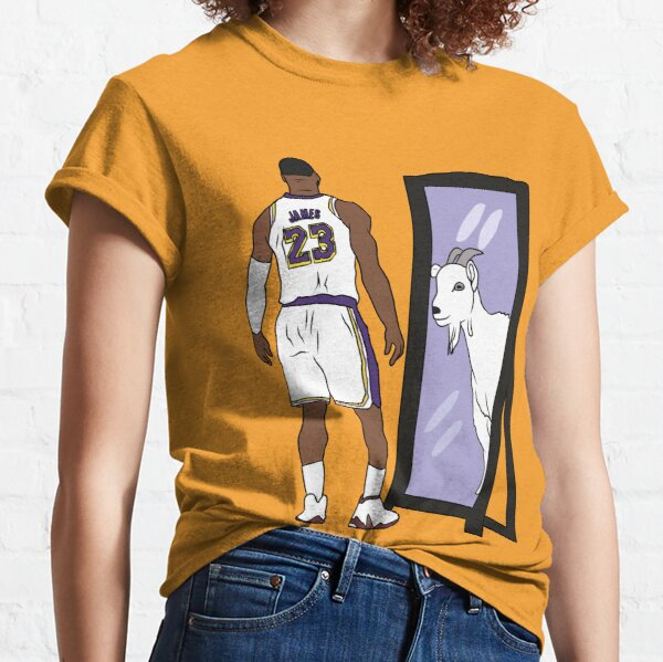 LeBron James Mirror CABRA (Lakers) Camiseta clásica
