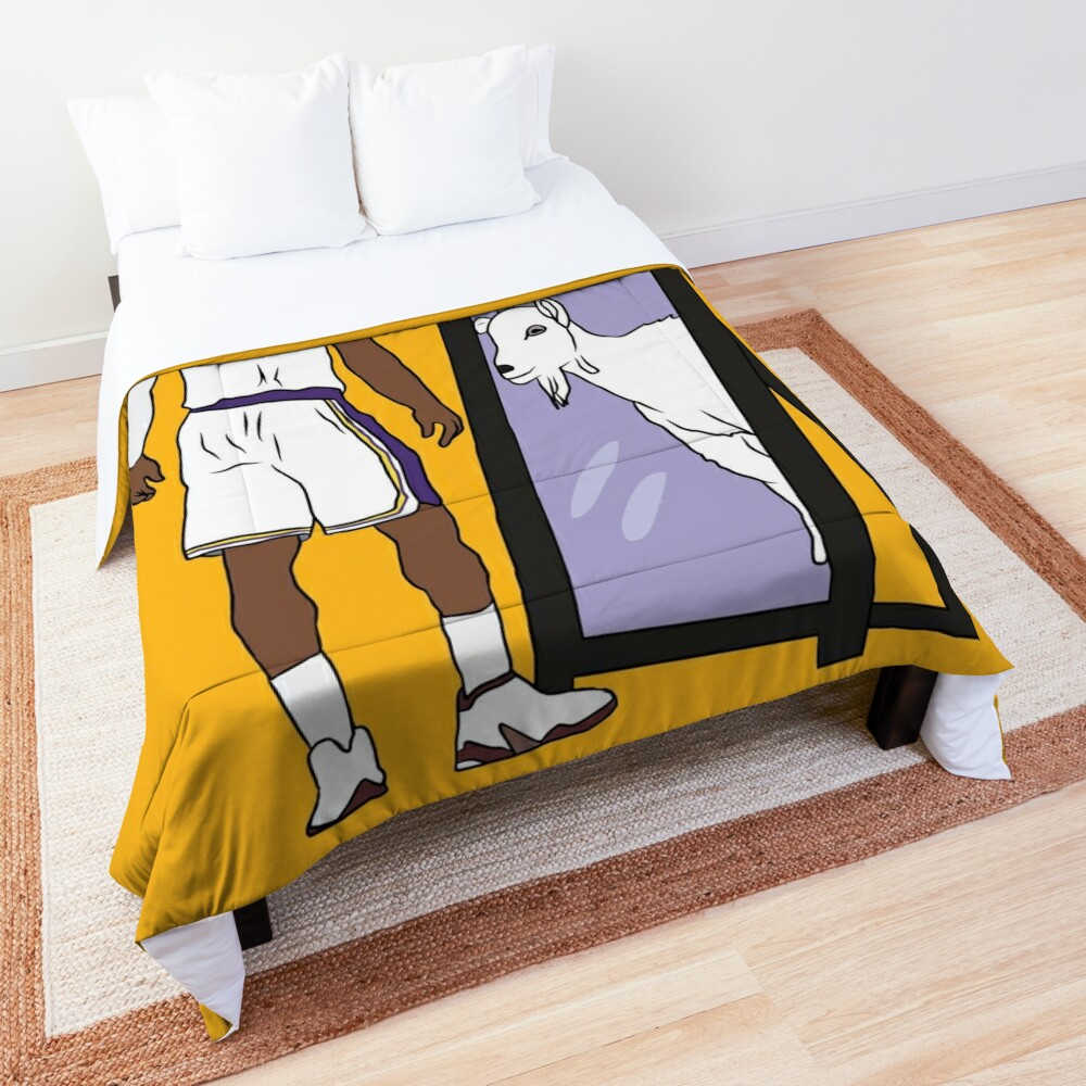LeBron James Mirror GOAT (Lakers) Comforter