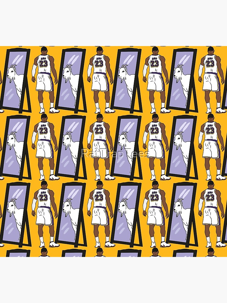 LeBron James Mirror GOAT (Lakers) by RatTrapTees