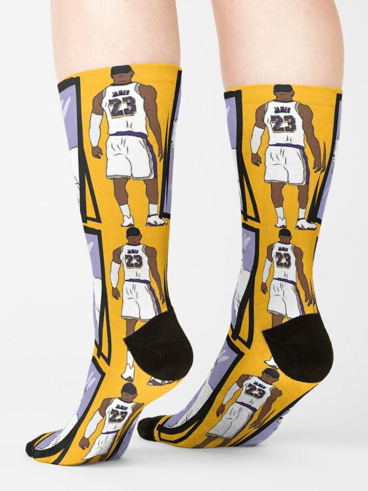 Alternate view of LeBron James Mirror GOAT (Lakers) Socks