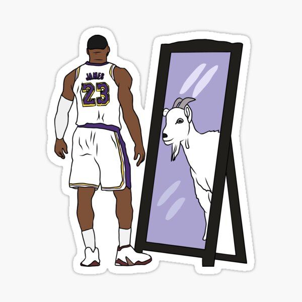 LeBron James Mirror GOAT (Lakers) Sticker
