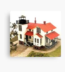 """Old Point San Luis Lighthouse - Scale Model"" Metal Print"
