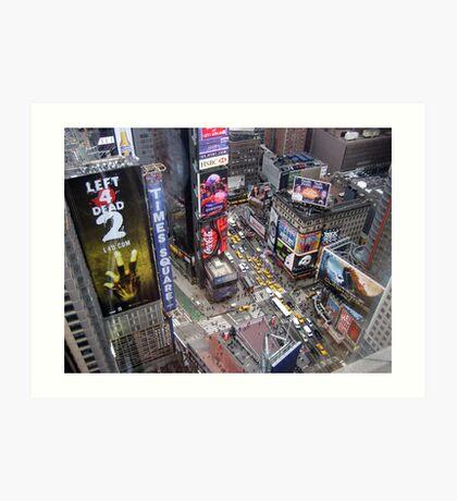 Times Square Phantom Art Print