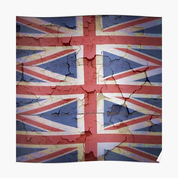 Vintage Old Distressed Union Jack Shabby Chic Punk Poster Style 1