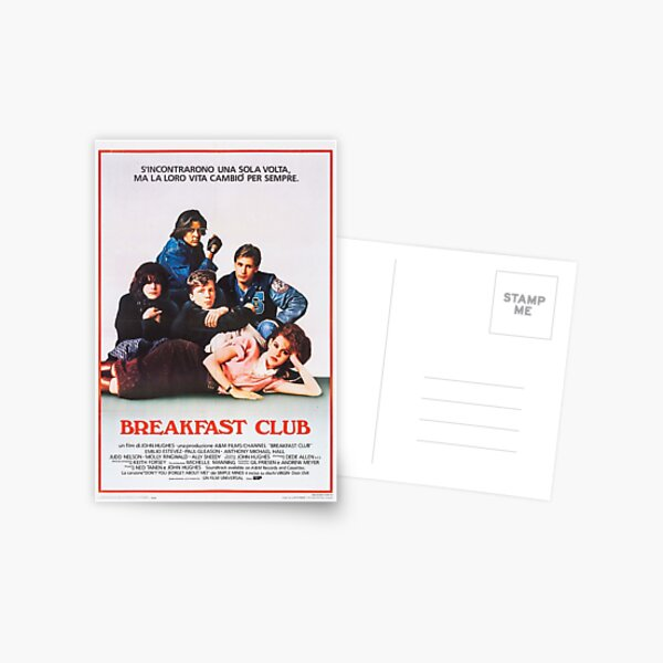 Vintage Breakfast Club Poster Postcard