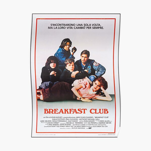 Vintage Breakfast Club Poster Poster