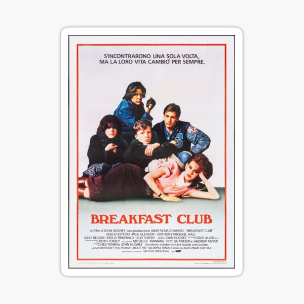 Vintage Breakfast Club Poster Sticker