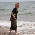 Child Happy in Sea by davesphotographics